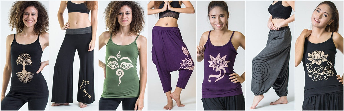 Women's Spandex Cotton Yoga Pants and Tops