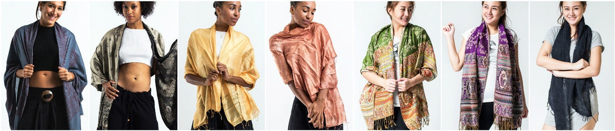 Organic Cotton Scarves, Pashminas, and Shawls