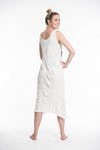 Sure Design Womens Tree Of Life Scoop Neck Tank Dress White