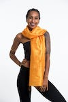 Thai Silk Shawl Scarf in Gold