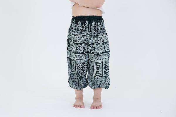 Kids Tribal Prints Harem Pants in Green