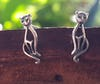 Sterling Silver Thai  Stud Earrings Cat Attitude