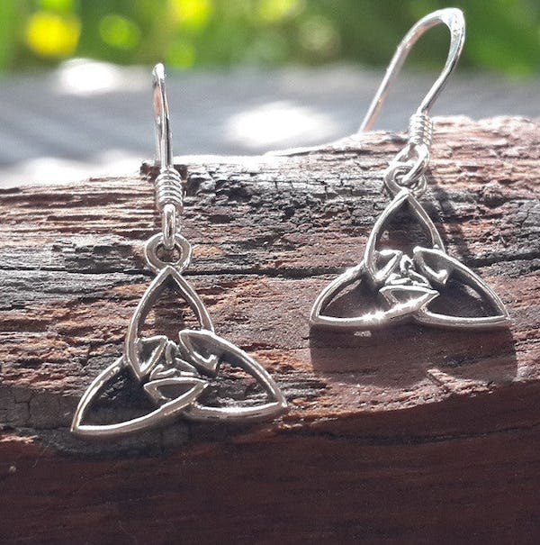 Sterling Silver Thai  Earrings Celtic Flower Knot