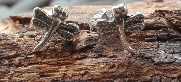 Sterling Silver Thai Stud Earrings DragonFly