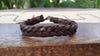 Braided Leather Bracelet in Brown