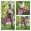 Tribal Prints Unisex Harem Pants in Red