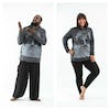 Plus Size Unisex Hoodie Tree of Life Silver on Black