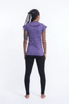 Sure Design Womens Octopus Chakras T-Shirt Purple