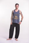 Vintage Style Singha Beer Tank Top in Denim Blue