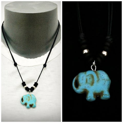 Beautiful Hand Made Beaded Turquoise Elephant