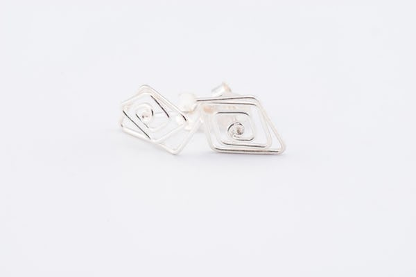 Sterling Silver Thai  Stud Earrings Twist