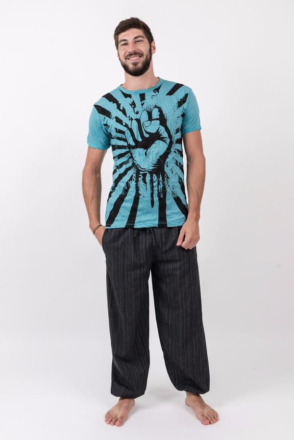 Sure Design Mens Fight to Freedom T-Shirt Turquoise