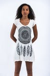 Sure Design Womens Dreamcatcher Dress White