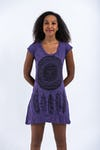 Sure Design Womens Dreamcatcher Dress Purple