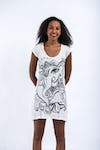 Sure Design Womens Cute Ganesha Dress White