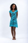 Sure Design Womens Cute Ganesha Dress Turquoise