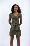 Womens Cute Ganesh Dress in Green