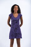 Womens Cute Ganesh Dress in Purple