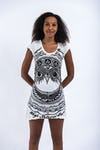Sure Design Womens Dress Weed Owl White