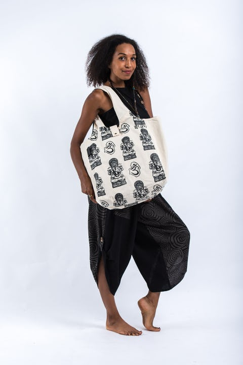 Multi Ohm Ganesh Cotton Tote Bag