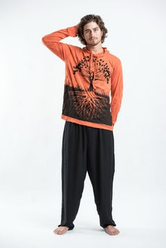Sure Design Mens Crazy Fingers Tshirt Orange