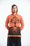 Sure Design Unisex Tree of Life Hoodie Orange
