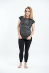Womens Harmony T-Shirt in Silver On Black
