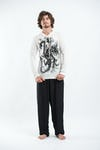 Sure Design Unisex  Hoodie The Dragon White