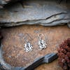 Sterling Silver Thai  Dangle Earrings Happiness