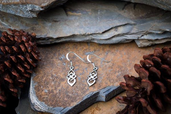 Sterling Silver Thai  Earrings Celtic Knots