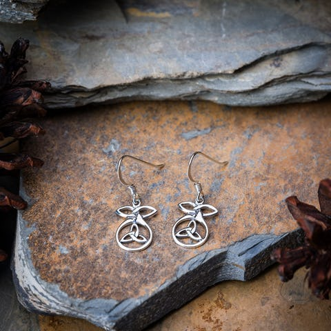 Sterling Silver Thai  Earrings Celtic Circle