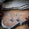 Celtic Teardrop Sterling Silver Earrings with Onyx
