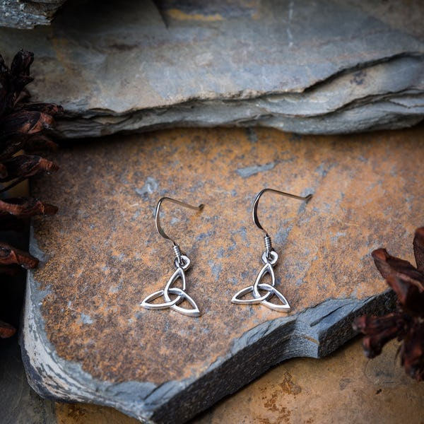 Sterling Silver Earrings Intrinity Drop