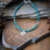 Hill Tribe Hand Made Turquoise and Silver Bead Bracelets with YinYang Charm