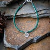 Hill Tribe Hand Made Malachite and Silver Bracelets with Om Charm