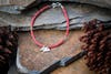 Hill Tribe Hand Made Coral and Silver Bead Bracelets with Elephant Charm