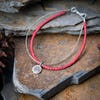 Hill Tribe Hand Made Coral and Silver Bracelets with Om Charm