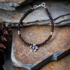 Hand Made Woven Leather Adjustable Bracelets Brown With Om Charm