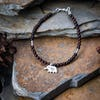 Hill Tribe Hand Made Garnet and Silver Bead Bracelets with Elephant Charm
