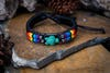 Hand Made Woven Waxed String Leather Adjustable Bracelets With Turtle Charm and Rainbow Beads
