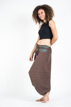Geometric Mandalas Unisex Harem Pants in Blue