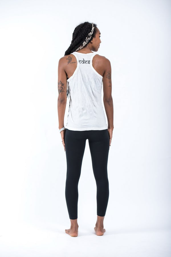 Sure Design Womens Wild Elephant Tank Top White