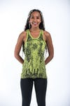 Womens Wild Elephant Tank Top in Lime
