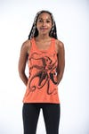 Sure Design Womens Octopus Tank Top Orange