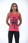 Sure Design Womens Octopus Tank Top Red