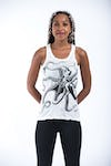 Sure Design Womens Octopus Tank Top White