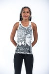 Sure Design Womens Sanskrit Buddha Tank Top White