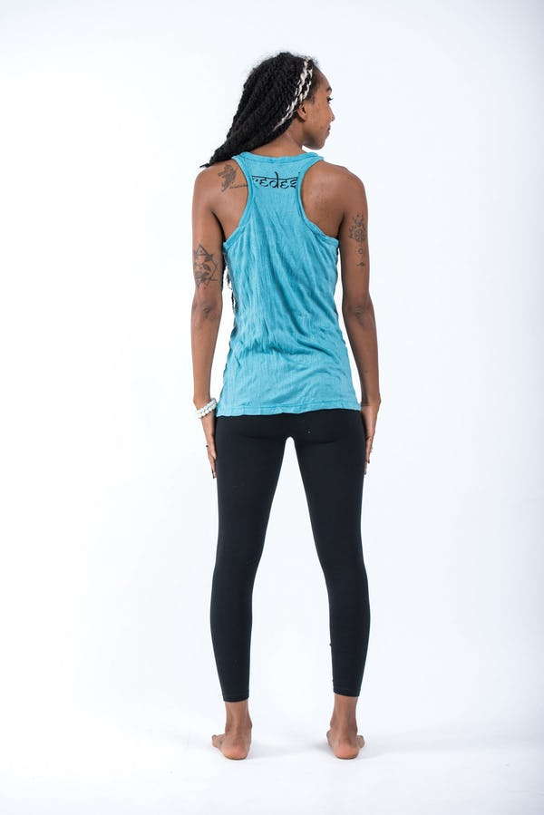 Sure Design Womens Sanskrit Buddha Tank Top Turquoise