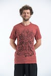 Sure Design Mens Chaos Man Tshirt Brick