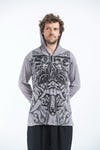 Sure Design Unisex Bali Mask Hoodie Grey